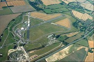 Aerial view of Thruxton Circuit and Airfield