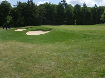 11th greenside bunkers following renovation works