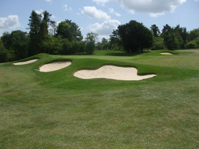13th greenside bunkers following renovation works