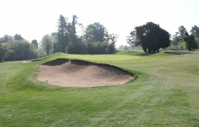 13th greenside bunkers prior to renovation works