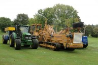 Mastenbroek laser guided chain trencher installing primary drainage