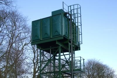 Tower and tank post construction
