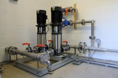 Bespoke pump station designed and manufactured by MJ Abbott