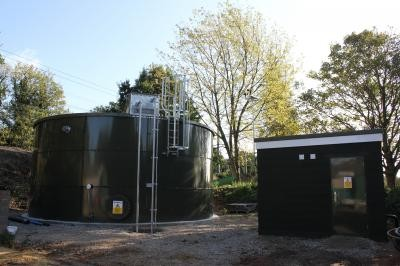 Vulcan water storage tank and pumphouse