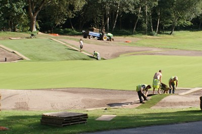 Turfing green and surrounds
