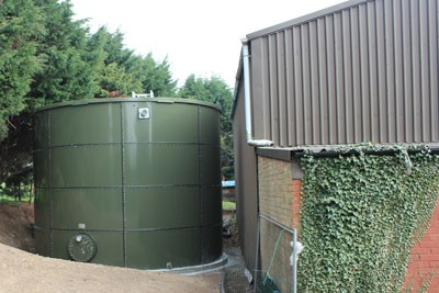 New irrigation water storage tank