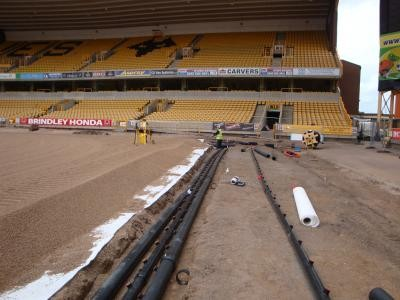 Installing pitch undersoil heating system