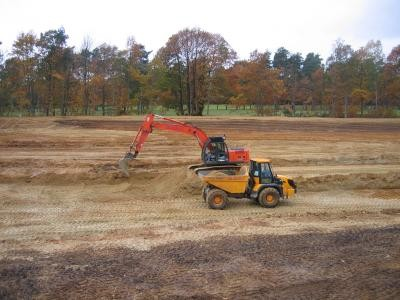 Cut and fill earthworks