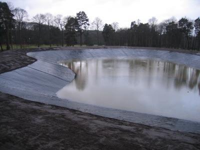Reservoir partially full