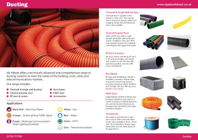 Ducting page from our new Product Guide