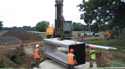 Installation of culvert