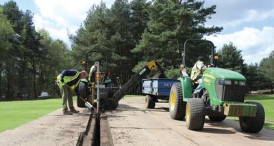Greens drainage at Ferndown Golf Club