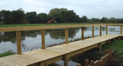 Boardwalk at Edenbrook Country Park
