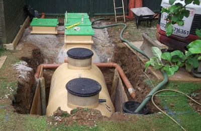 Bespoke sewage treatment plant at a private residence