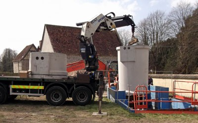 Installation of a sewage treatment plant for a country house