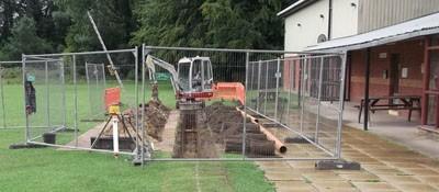 Installing uPVC sewer drains