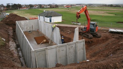 Construction of irrigation water storage tank at Gullane Golf Club